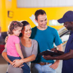 Springfield Mechanic talking to a family about their auto repair service